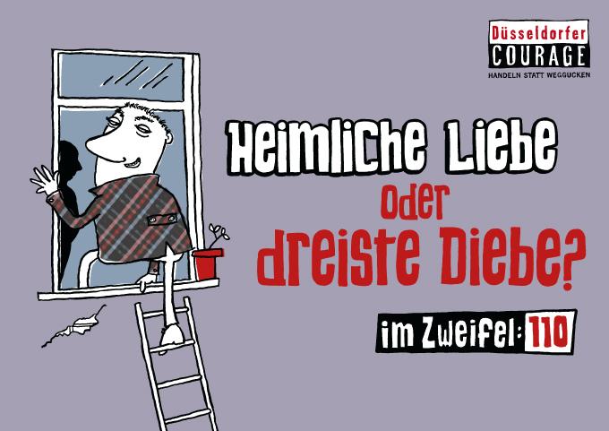 """Düsseldorfer Courage Plakat """"Heimlich"""""""