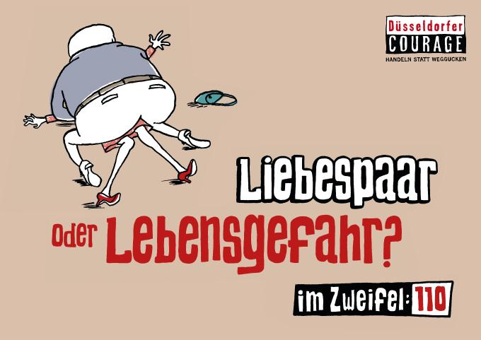 """Düsseldorfer Courage Plakat """"Liebespaar"""""""