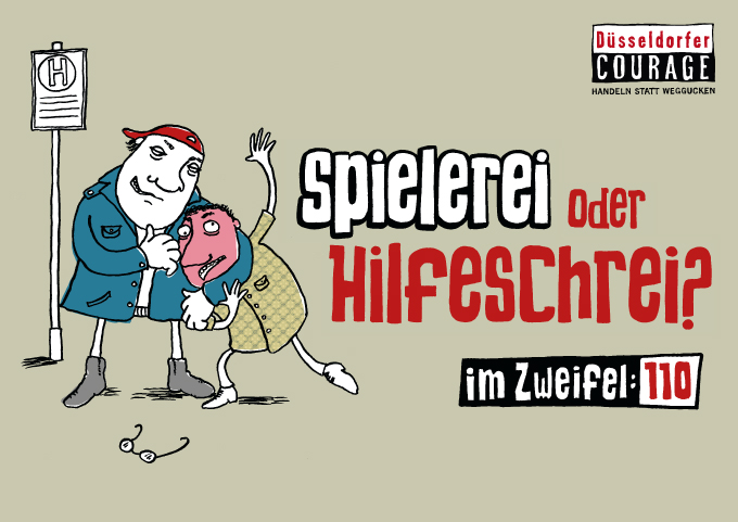 "Düsseldorfer Courage|Plakat ""Spielerei"""