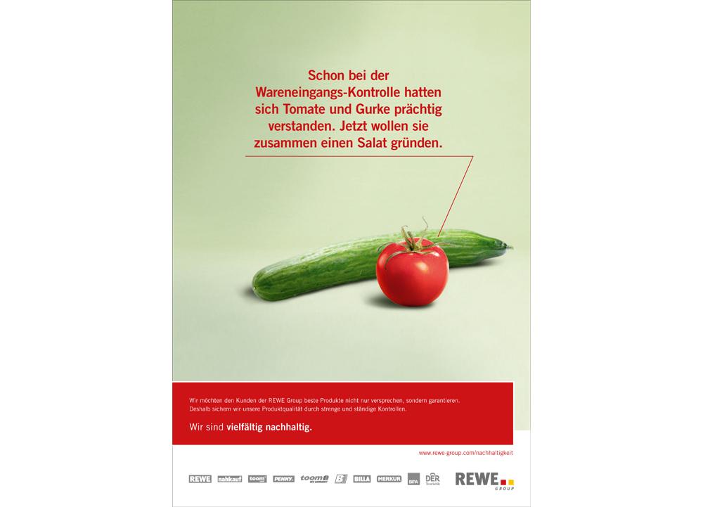 """REWE Anzeige Nachhaltigkeitsgeschichten """"Salat"""""""