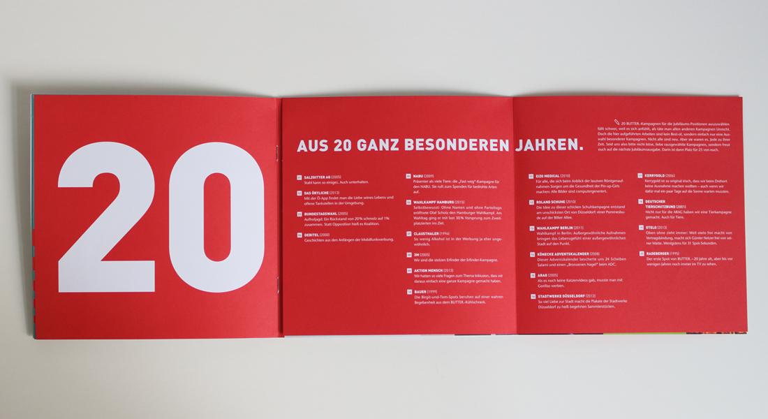 """BUTTER. Festschrift """"20 Jahre"""""""