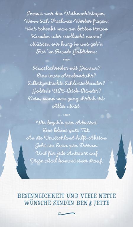 Das Weihnachtsmailing